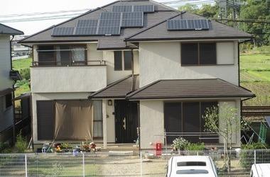 橿原市K様 外壁塗装、ソーラーパネル設置